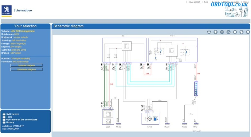 Reading Wiring Diagram Tutorial : Read peugeot wiring diagrams with service box